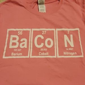 Pink Ba Co N 🥓 Periodic tab short sleeve T-shirt
